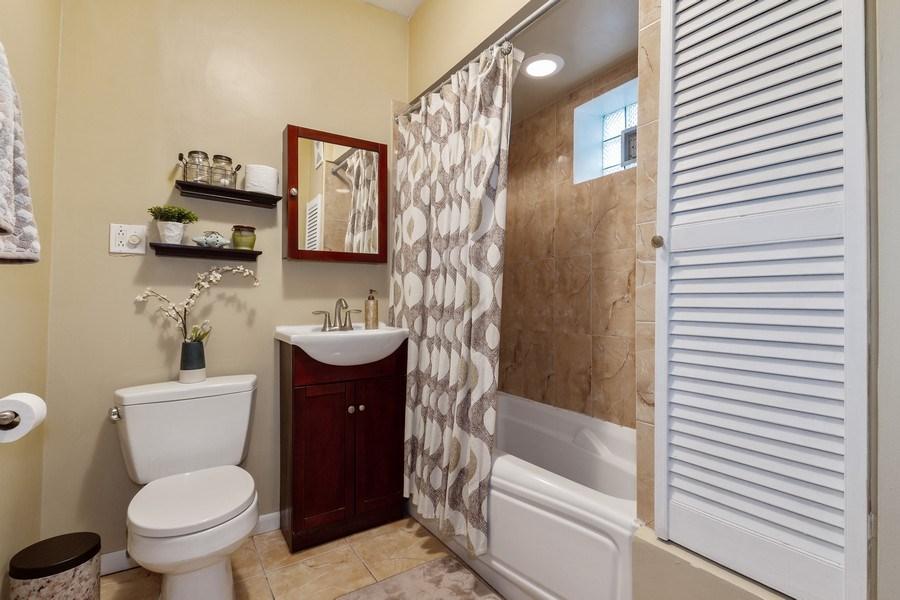 Real Estate Photography - 5319 W. Agatite Avenue, Chicago, IL, 60630 - Bathroom