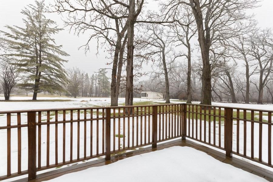 Real Estate Photography - 37 Braeburn Lane, Barrington Hills, IL, 60010 - Deck from Master Bedroom