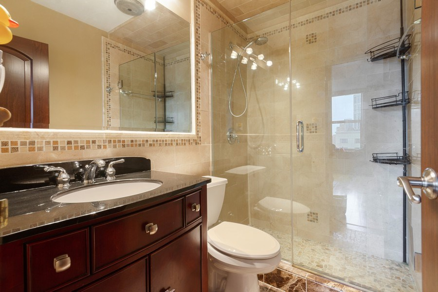 Real Estate Photography - 777 N. Michigan Avenue, Unit 2101, Chicago, IL, 60611 - Master Bathroom
