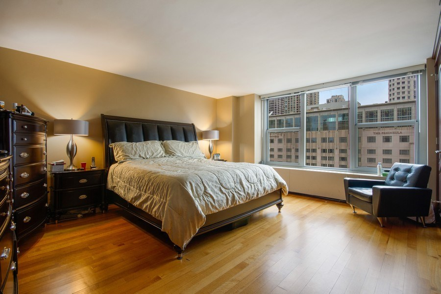 Real Estate Photography - 777 N. Michigan Avenue, Unit 2101, Chicago, IL, 60611 - Master Bedroom