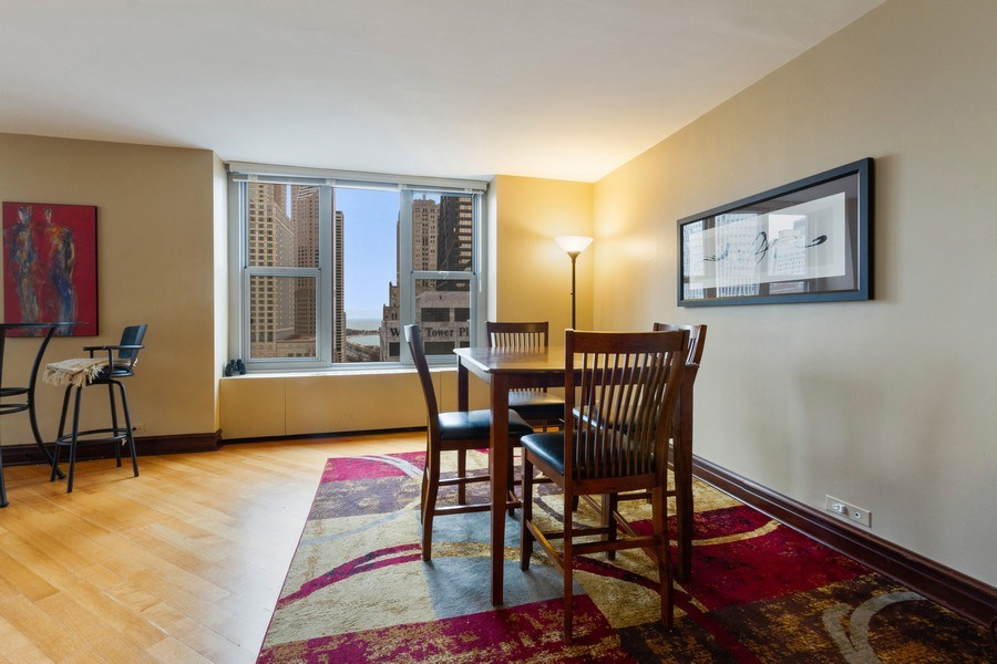 Real Estate Photography - 777 N. Michigan Avenue, Unit 2101, Chicago, IL, 60611 - Dining Room