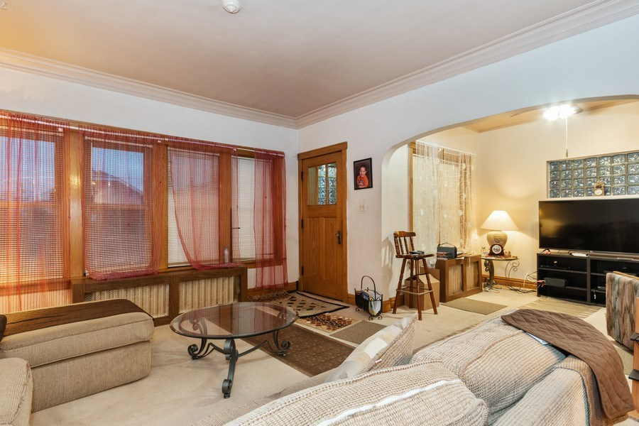 Real Estate Photography - 2445 Euclid Avenue, Berwyn, IL, 60402 - Living Room