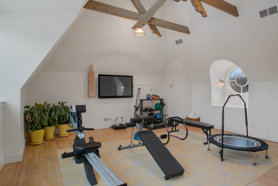 Real Estate Photography - 111 E. ONWENTSIA Road, Lake Forest, IL, 60045 - Exercise Room