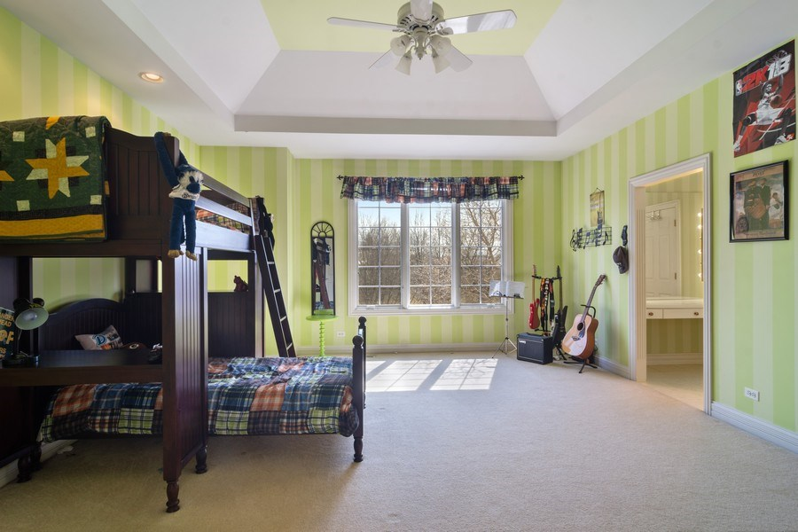 Real Estate Photography - 15 Woodview Lane, Inverness, IL, 60067 - Bedroom 3