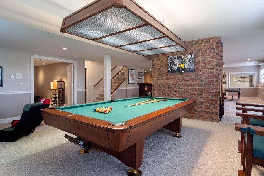Real Estate Photography - 15 Woodview Lane, Inverness, IL, 60067 - Game Room