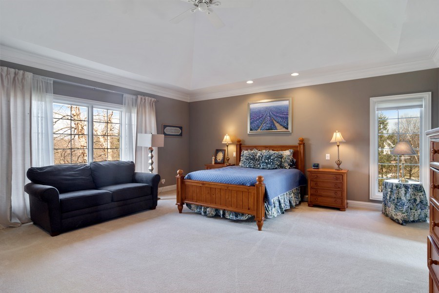 Real Estate Photography - 15 Woodview Lane, Inverness, IL, 60067 - Master Bedroom 1