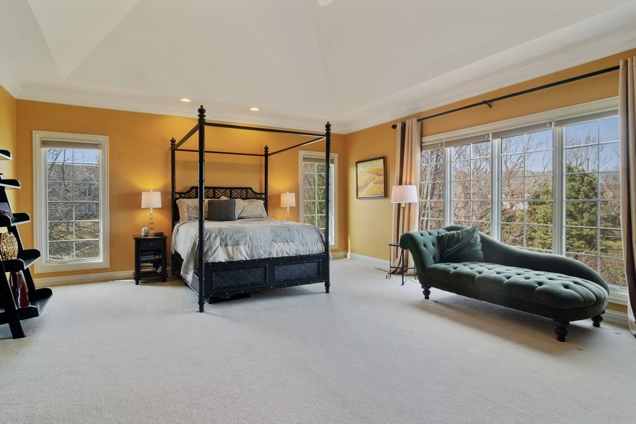 Real Estate Photography - 15 Woodview Lane, Inverness, IL, 60067 - Master Bedroom 2