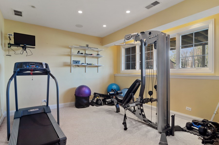Real Estate Photography - 15 Woodview Lane, Inverness, IL, 60067 - Exercise Room