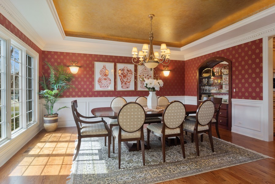 Real Estate Photography - 15 Woodview Lane, Inverness, IL, 60067 - Dining Room