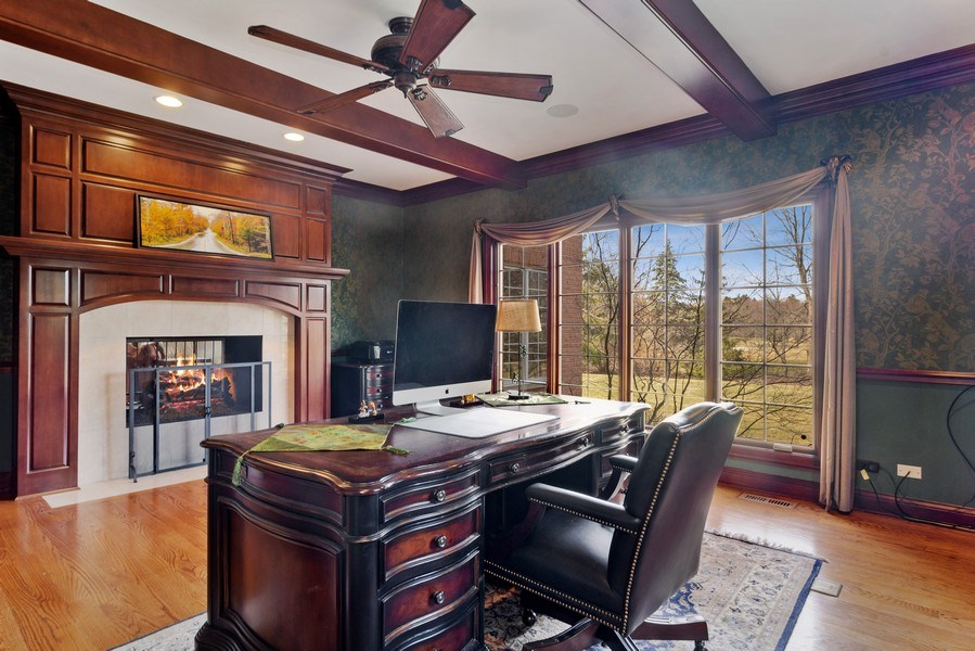 Real Estate Photography - 15 Woodview Lane, Inverness, IL, 60067 - Study