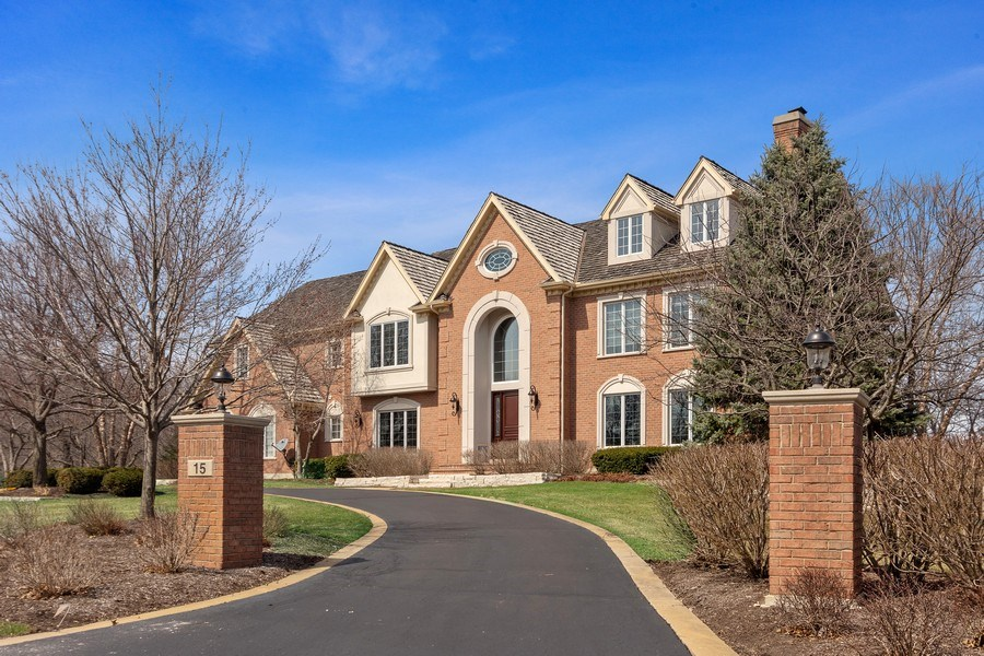 Real Estate Photography - 15 Woodview Lane, Inverness, IL, 60067 - Front View