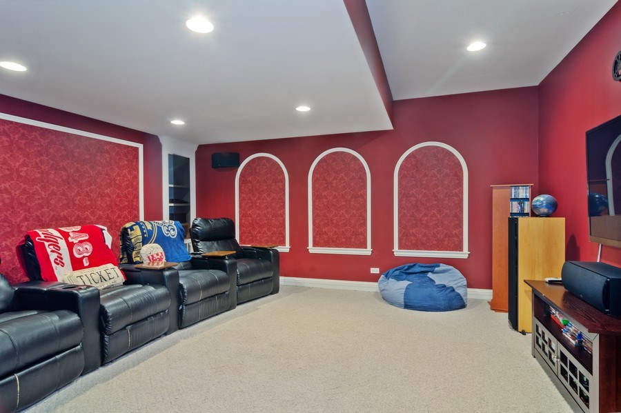 Real Estate Photography - 15 Woodview Lane, Inverness, IL, 60067 - Theater