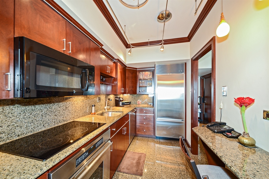 Real Estate Photography - 175 E. DELAWARE Place, Unit 6107, Chicago, IL, 60611 - Kitchen