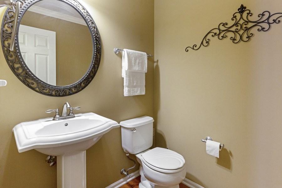 Real Estate Photography - 2400 Mckenzie Court, Aurora, IL, 60503 - Powder Room