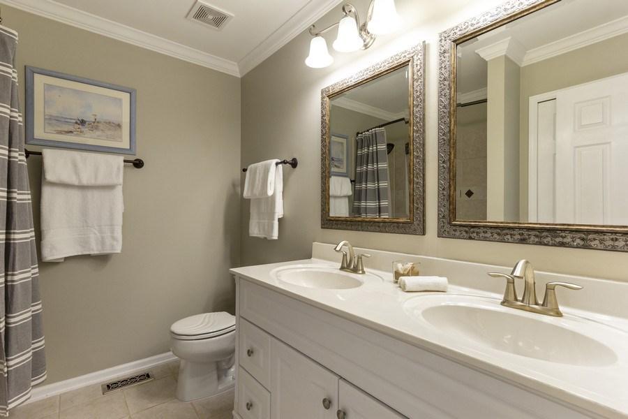 Real Estate Photography - 2400 Mckenzie Court, Aurora, IL, 60503 - Upstairs Hallway Full Bathroom