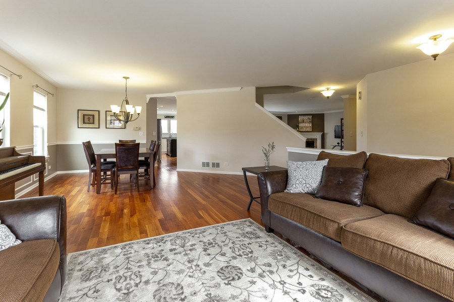 Real Estate Photography - 2400 Mckenzie Court, Aurora, IL, 60503 - Living Room/Dining Room