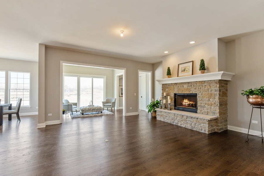 Real Estate Photography - 1105 Rebecca Court, Libertyville, IL, 60048 - Family Room