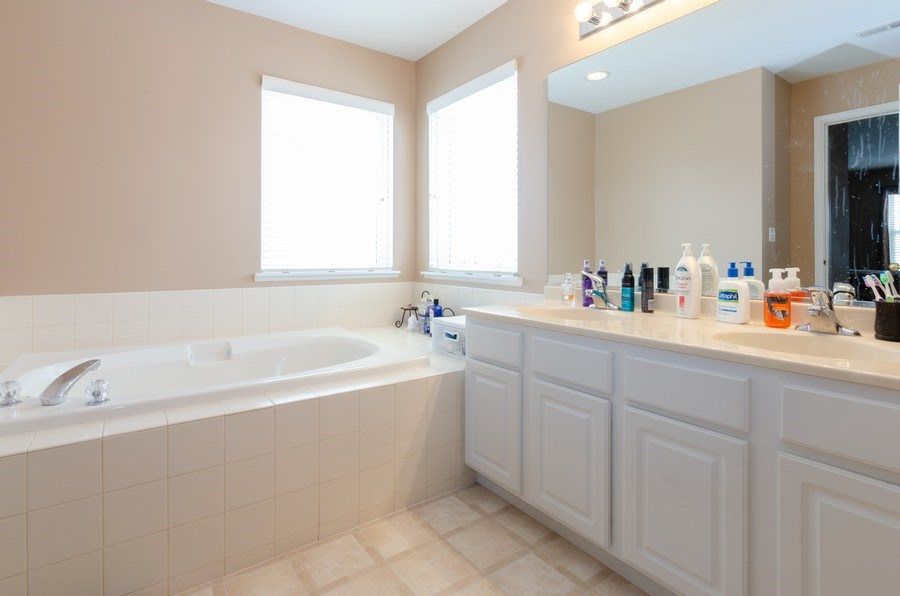 Real Estate Photography - 3633 Sonoma Circle, Lake In The Hills, IL, 60156 - Master Bathroom