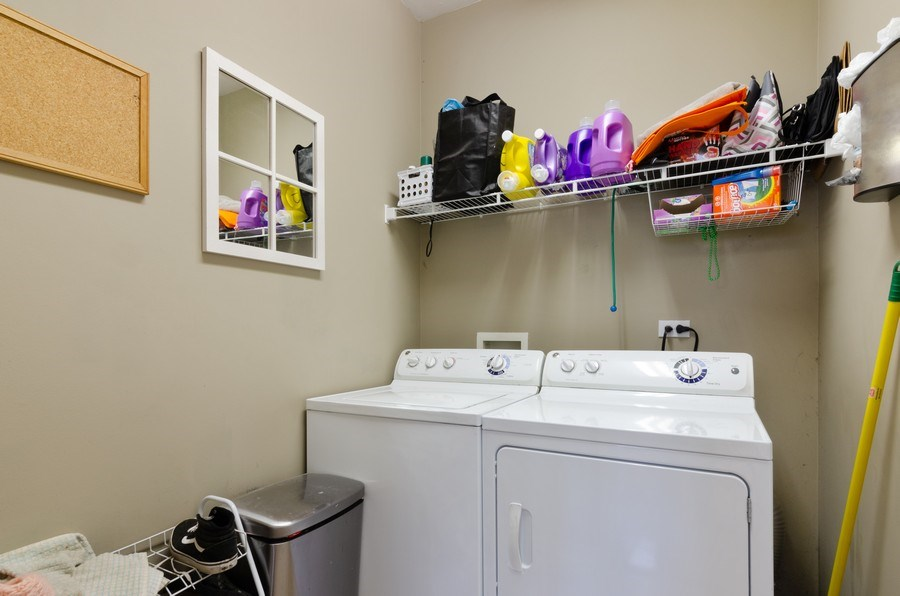 Real Estate Photography - 3633 Sonoma Circle, Lake In The Hills, IL, 60156 - Laundry Room