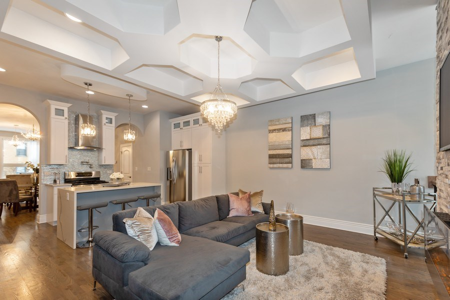 Real Estate Photography - 4607 S. Calumet Avenue, Chicago, IL, 60653 - Living Room
