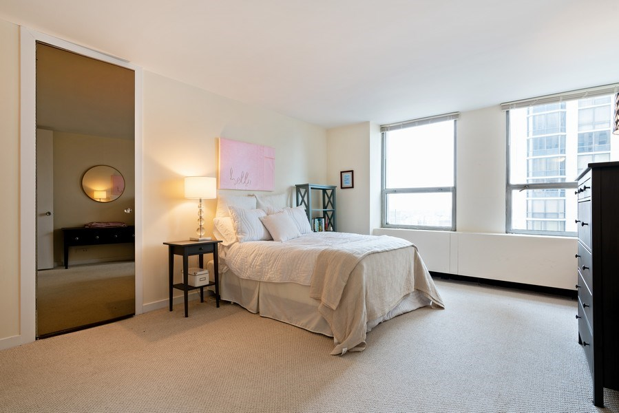 Real Estate Photography - 2626 N. Lakeview Avenue, Unit 1801, Chicago, IL, 60614 - Master Bedroom