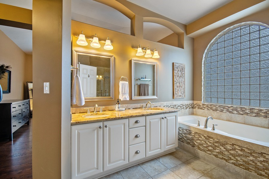 Real Estate Photography - 1508 Cocalico Court, Naperville, IL, 60563 - Recently updated luxury master bath
