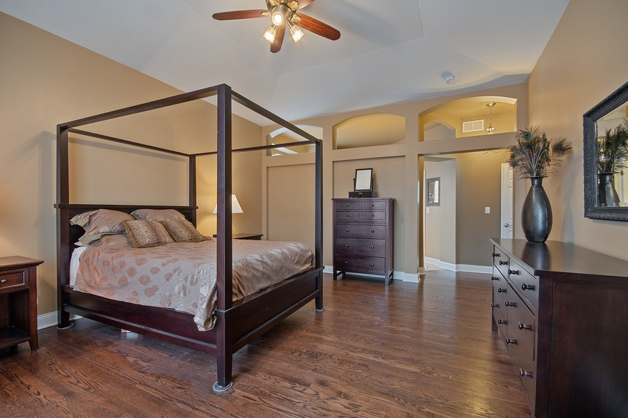 Real Estate Photography - 1508 Cocalico Court, Naperville, IL, 60563 - 1st floor master bedroom suite