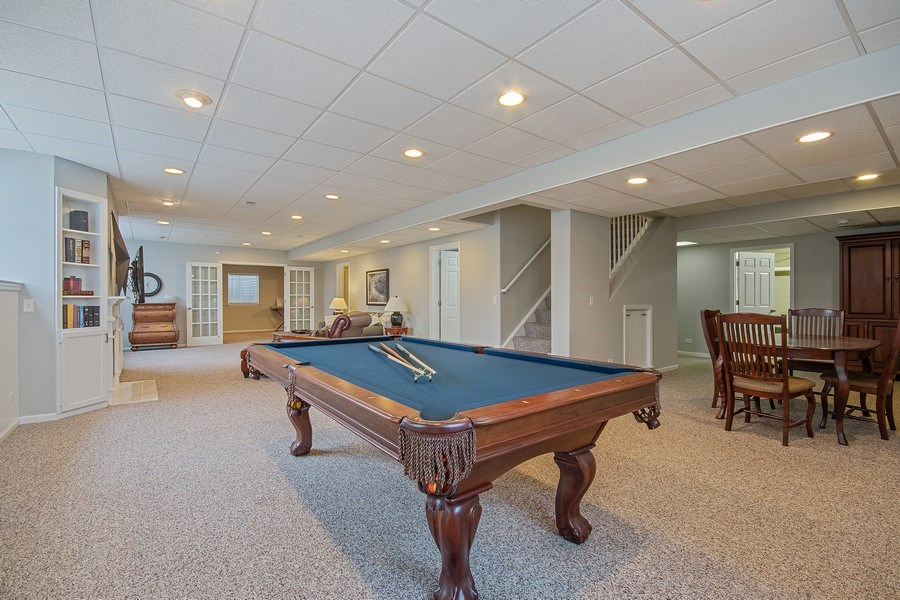 Real Estate Photography - 1508 Cocalico Court, Naperville, IL, 60563 - Game areas, 2nd kitchen & versatile fun!