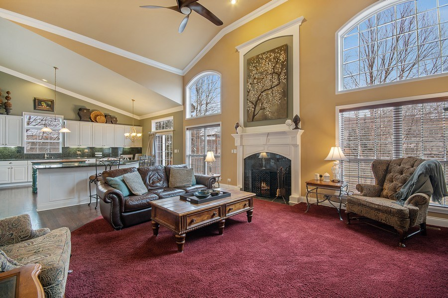 Real Estate Photography - 1508 Cocalico Court, Naperville, IL, 60563 - View from the family room into the kitchen