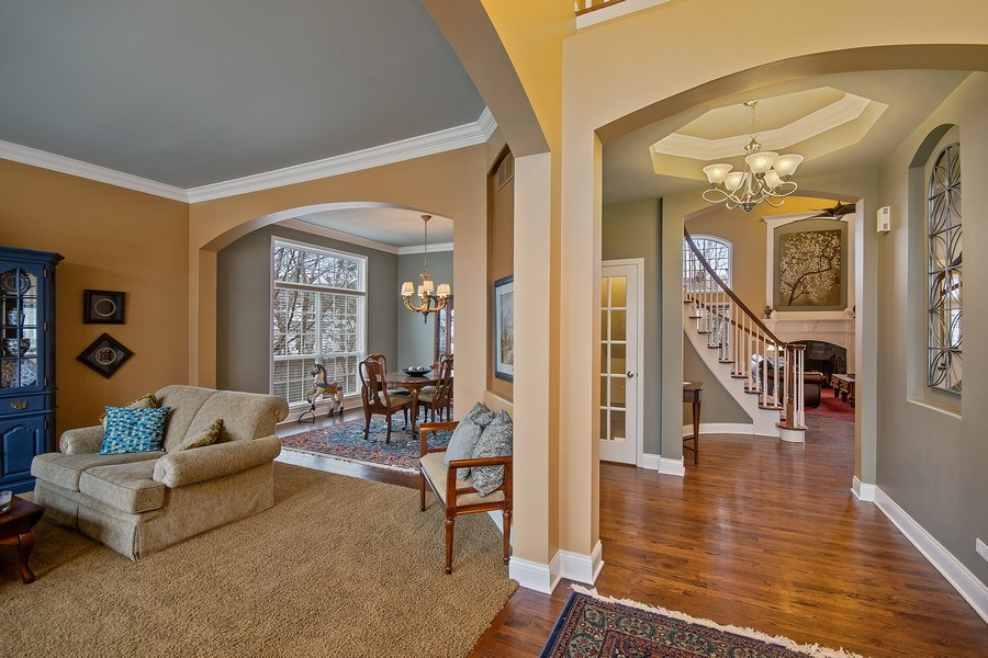 Real Estate Photography - 1508 Cocalico Court, Naperville, IL, 60563 - Open design with intricate details everywhere