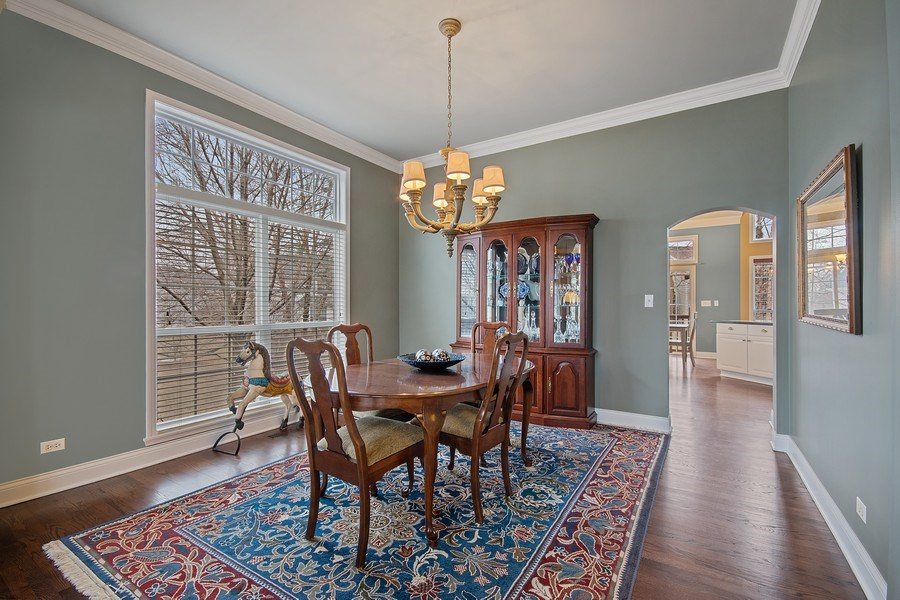 Real Estate Photography - 1508 Cocalico Court, Naperville, IL, 60563 - The dining room is steps from the kitchen