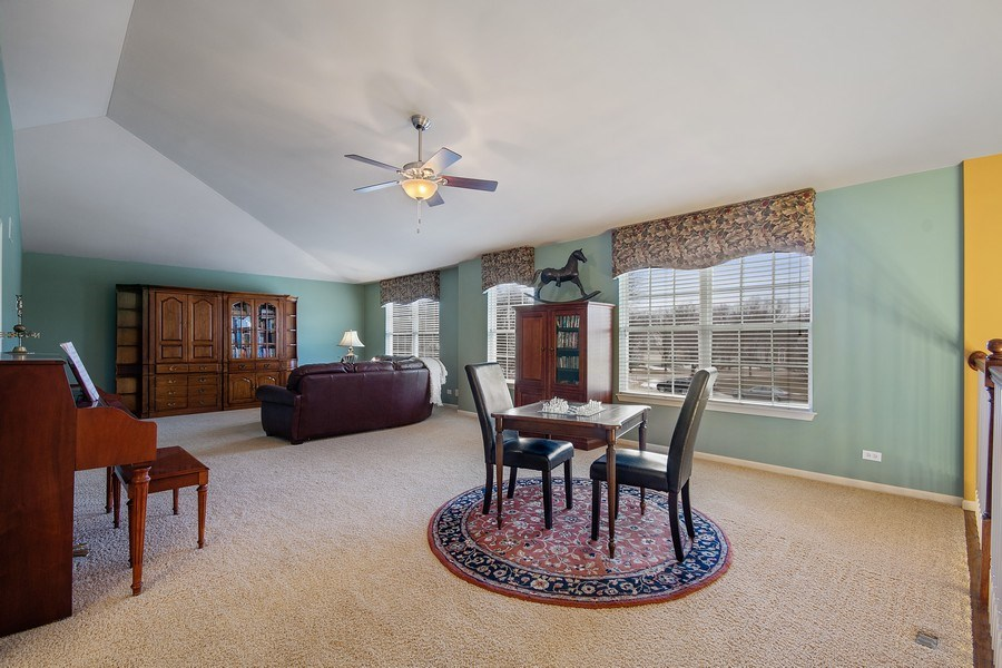 Real Estate Photography - 1508 Cocalico Court, Naperville, IL, 60563 - 2nd floor bonus space for games or Media area