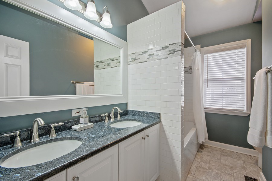 Real Estate Photography - 1508 Cocalico Court, Naperville, IL, 60563 - 3rd full updated bath with high end fixtures
