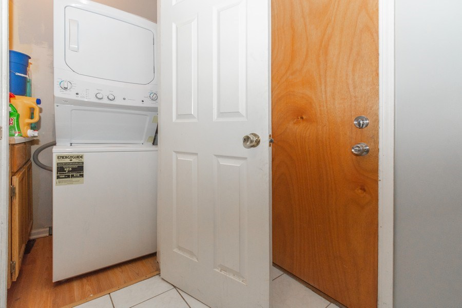 Real Estate Photography - 5844 S. Campbell Avenue, Chicago, IL, 60629 - 2nd Floor unit- Laundry closet