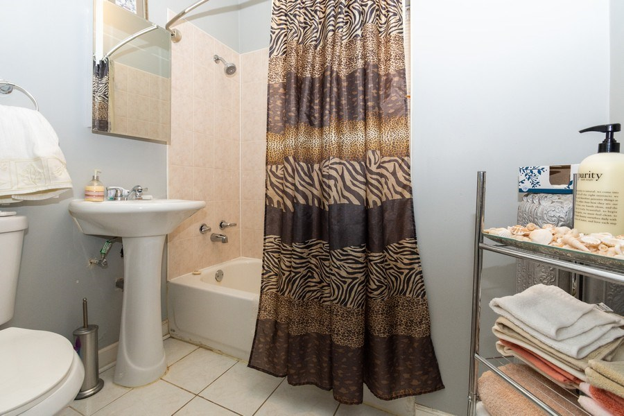 Real Estate Photography - 5844 S. Campbell Avenue, Chicago, IL, 60629 - 1st Floor unit-Bathroom