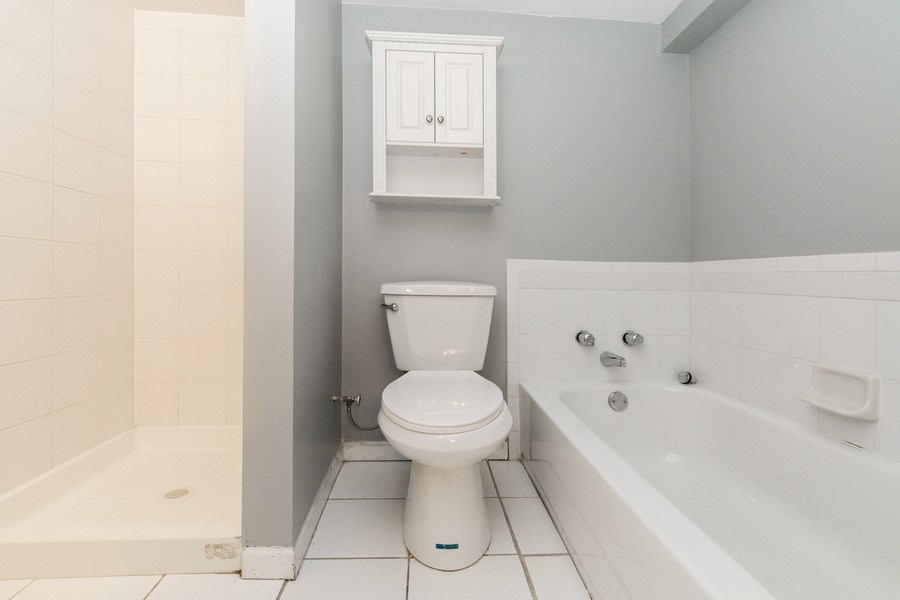 Real Estate Photography - 5844 S. Campbell Avenue, Chicago, IL, 60629 - Basement unit- Bathroom