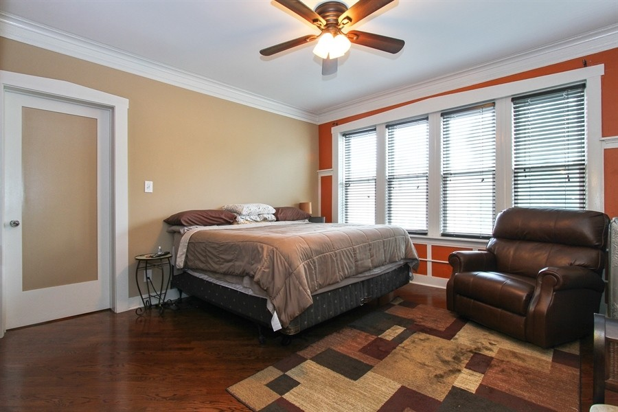 Real Estate Photography - 5844 S. Campbell Avenue, Chicago, IL, 60629 - Owner's unit 2nd floor- Master bedroom