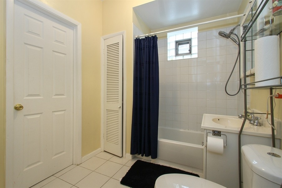 Real Estate Photography - 5844 S. Campbell Avenue, Chicago, IL, 60629 - Owner's unit 2nd floor- guest bathroom