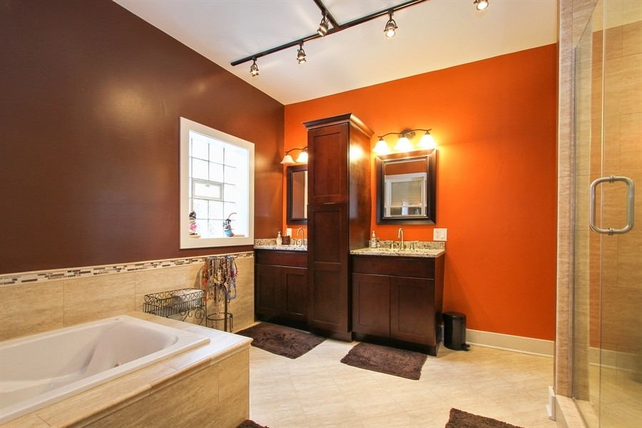Real Estate Photography - 5844 S. Campbell Avenue, Chicago, IL, 60629 - Owner's unit 2nd floor - Master bathroom
