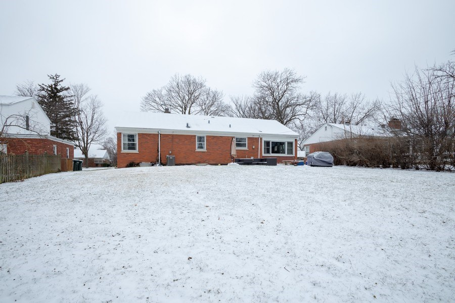 Real Estate Photography - 145 Cornell Avenue, Des Plaines, IL, 60016 - Rear View
