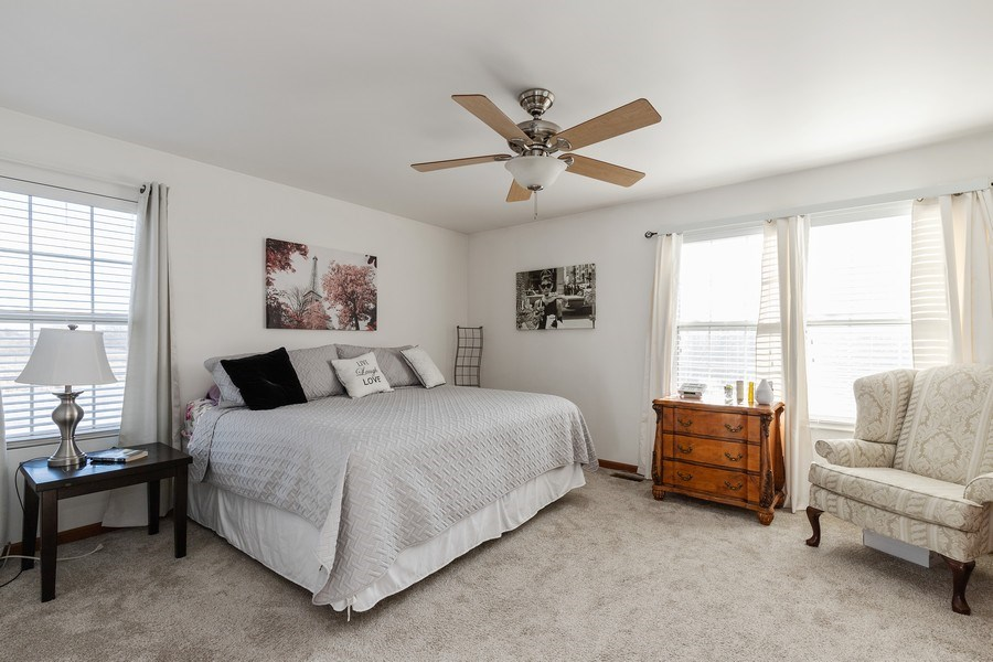Real Estate Photography - 361 S. Litchfield Drive, Unit 361, Round Lake, IL, 60073 - Master Bedroom