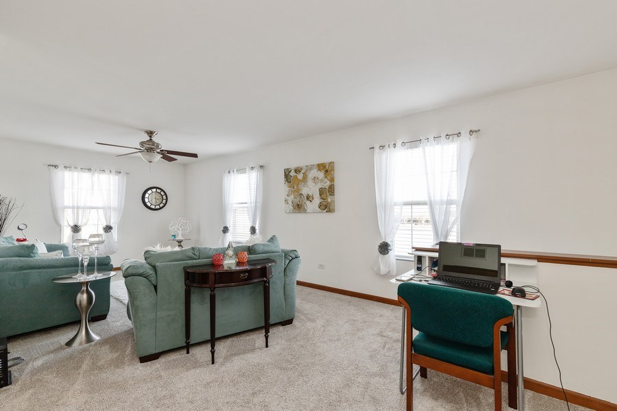Real Estate Photography - 361 S. Litchfield Drive, Unit 361, Round Lake, IL, 60073 - Family Room