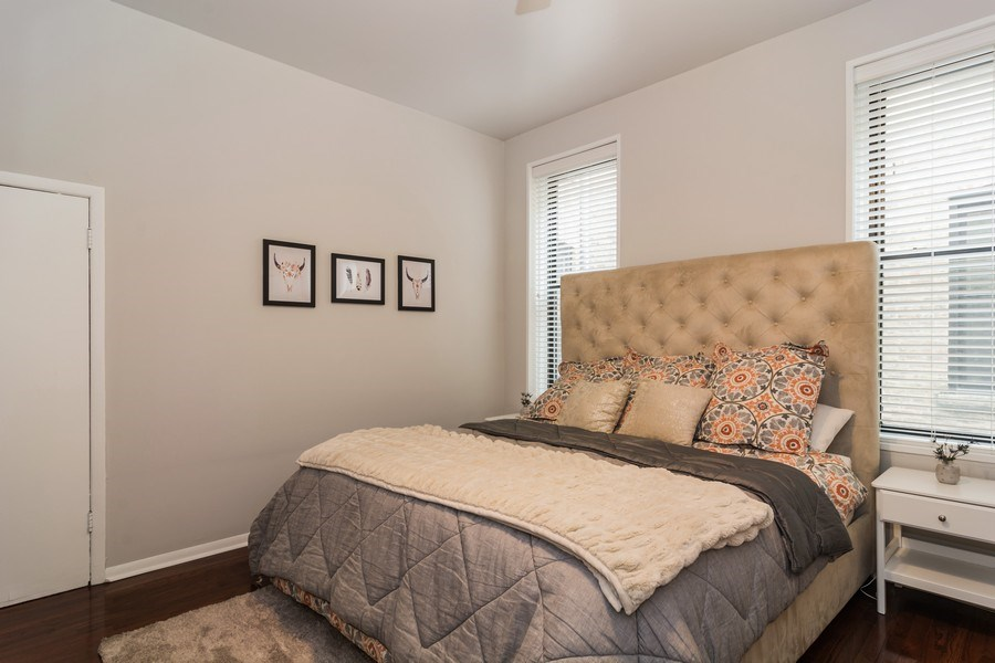 Real Estate Photography - 2121 N. Sheffield Avenue, Unit 2W, Chicago, IL, 60614 - Master Bedroom