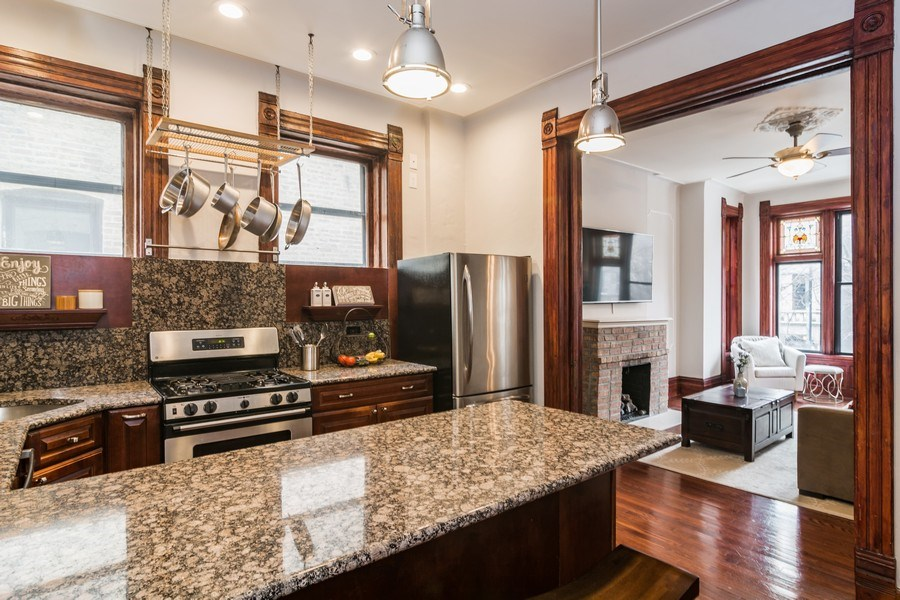 Real Estate Photography - 2121 N. Sheffield Avenue, Unit 2W, Chicago, IL, 60614 - Kitchen