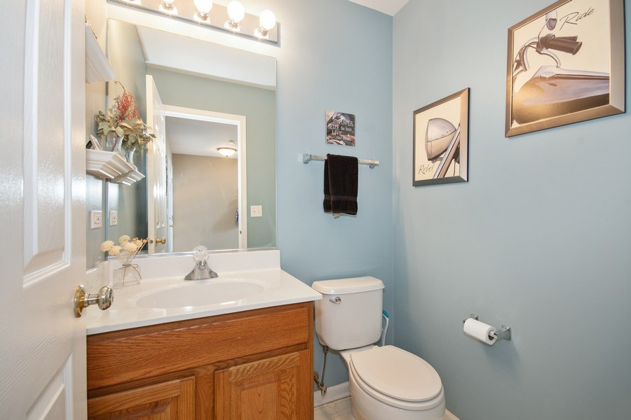Real Estate Photography - 109 Ainsley Drive, West Chicago, IL, 60185 - Half Bath