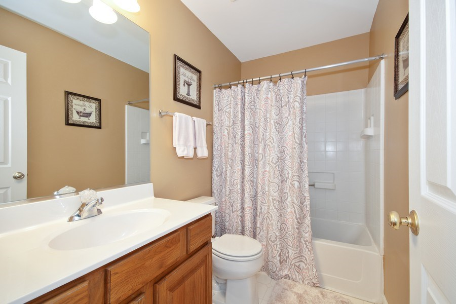 Real Estate Photography - 109 Ainsley Drive, West Chicago, IL, 60185 - 2nd Bathroom
