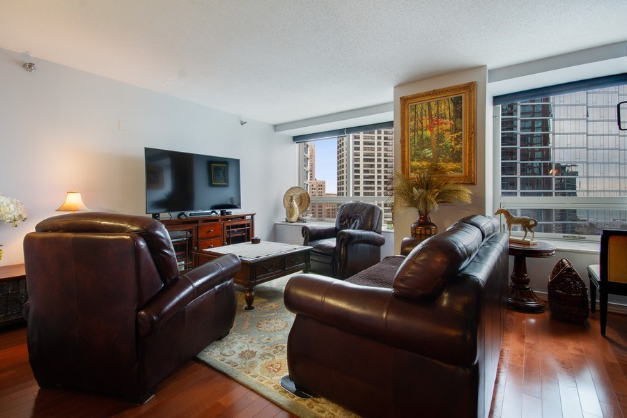 Real Estate Photography - 512 N. Mcclurg Court, Unit 1603, Chicago, IL, 60611 - Living Room
