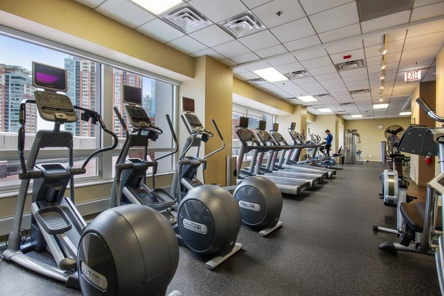 Real Estate Photography - 512 N. Mcclurg Court, Unit 1603, Chicago, IL, 60611 - Gym