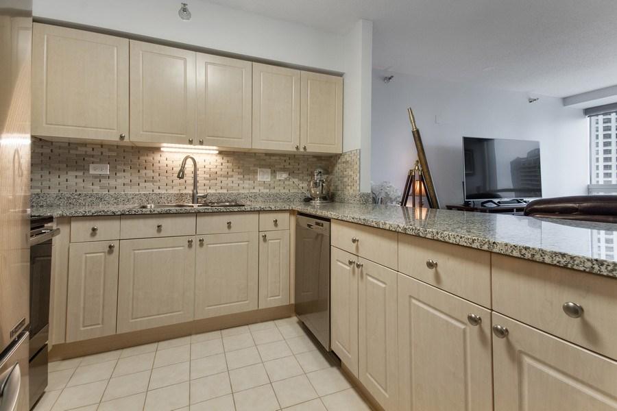 Real Estate Photography - 512 N. Mcclurg Court, Unit 1603, Chicago, IL, 60611 - Kitchen