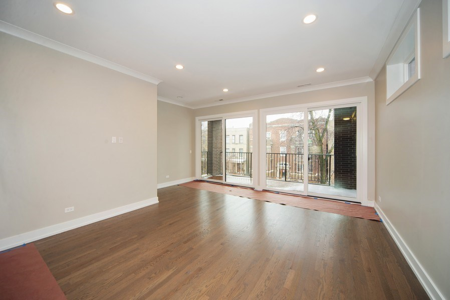 Real Estate Photography - 1466 W. Winona Street, Unit 3, Chicago, IL, 60640 - Living Room